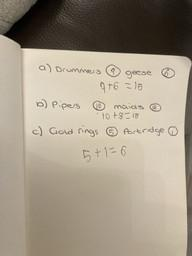Elijah's 12 Days of Christmas Maths