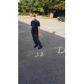 Drawing chalk art