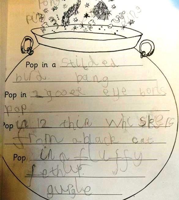 writing spells...