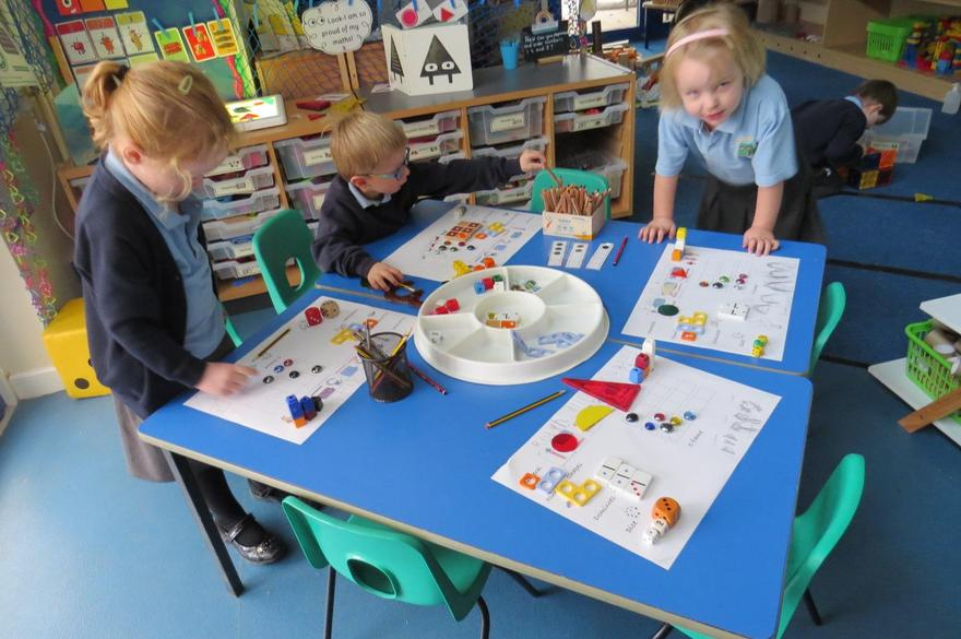 and many other ways of representing 1,2 and 3!