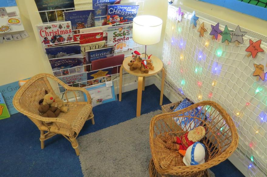 Luckily our reading corner is a cosy place to read and rest!