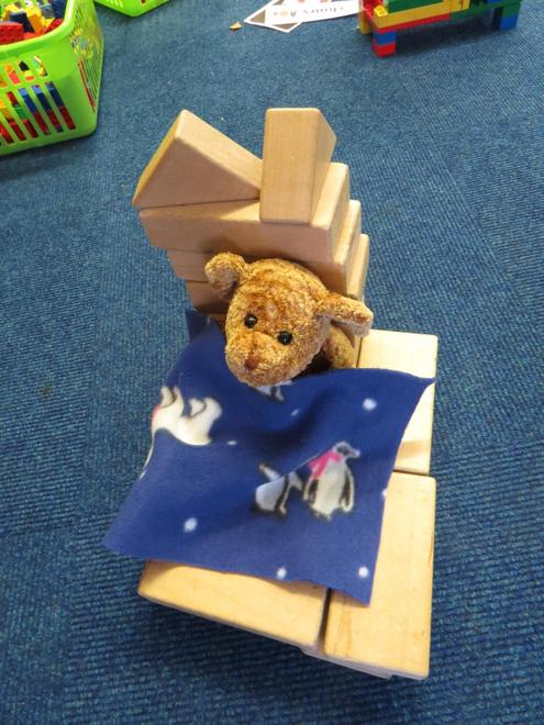 ..and for Baby Bear; using blocks of different sizes