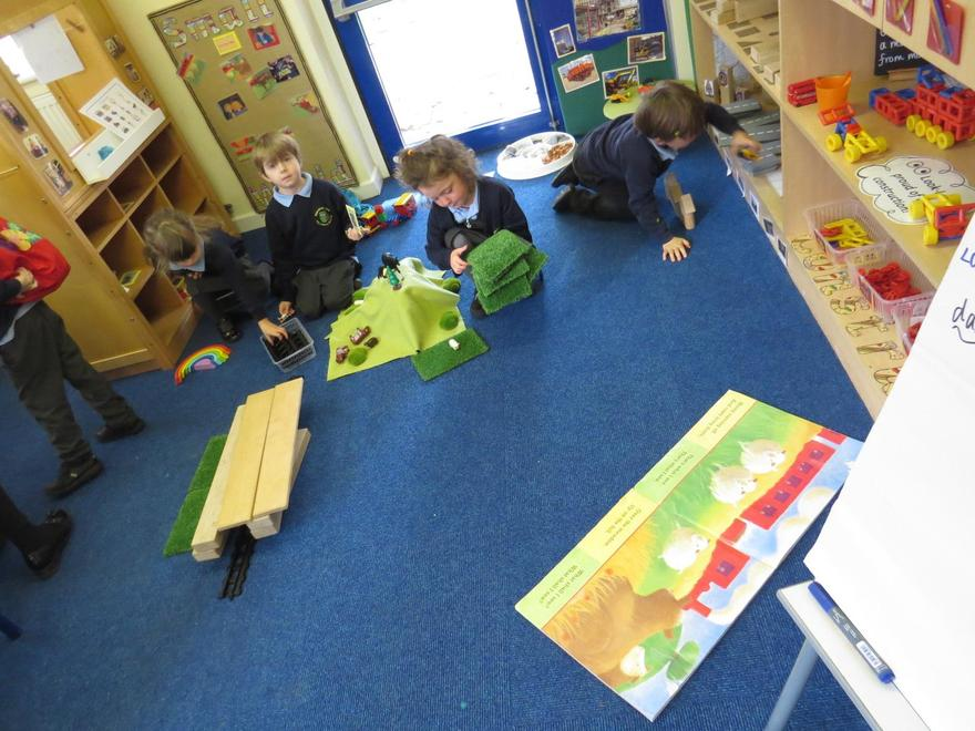 We worked together to recreate 'The Train Ride'