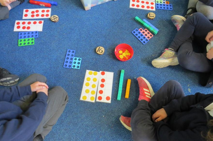 We found different ways to represent teen numbers...