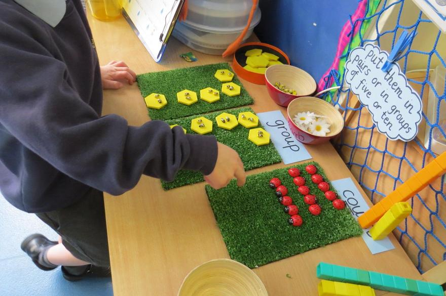and finding out about counting in different ways.