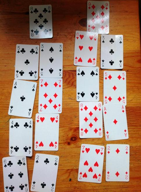 Maths additions using playing cards..