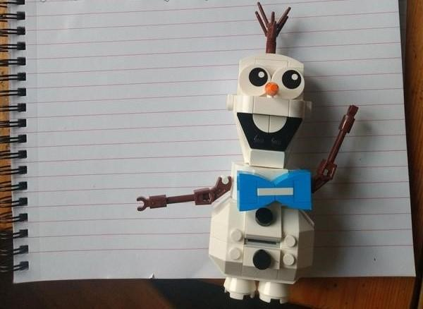 Olaf helped with a story.