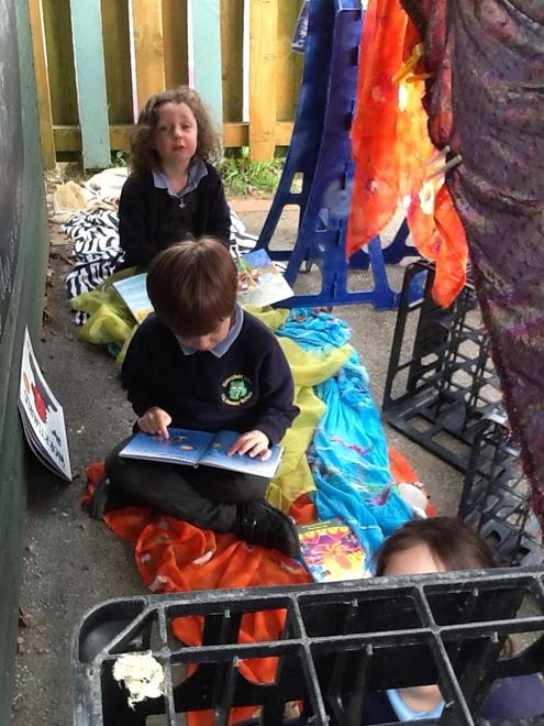 to construct our 'Reading Den's...