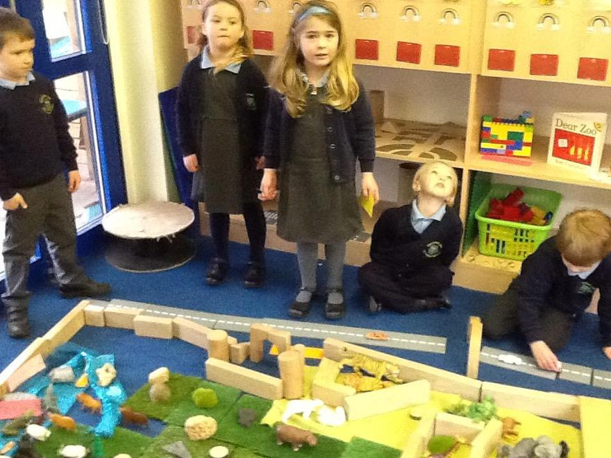 We worked together to construct enclosures...