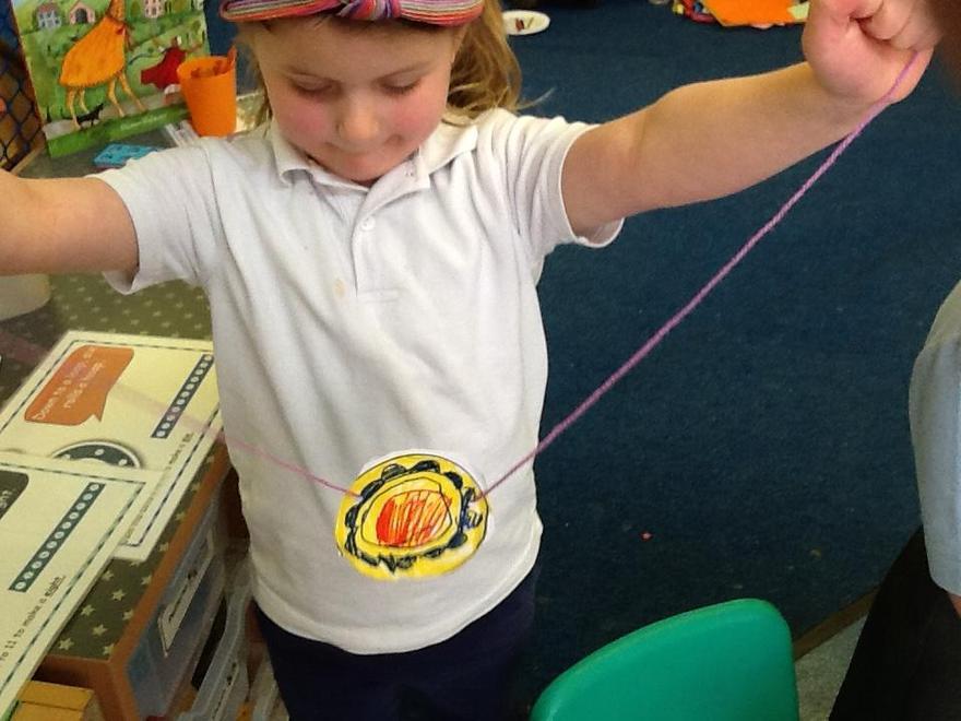 We listened to the story of 'Zeraffa Giraffa' who wore an amulet...