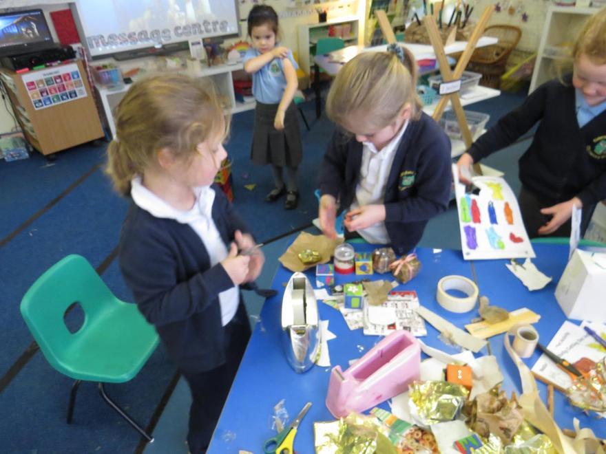 We made little Nativity scenes..