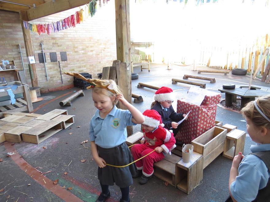 on his sleigh! Go Rudolph!