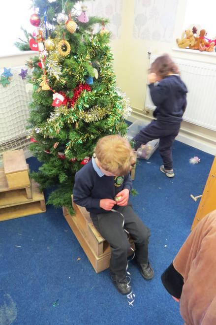 and our role play area Christmas tree.