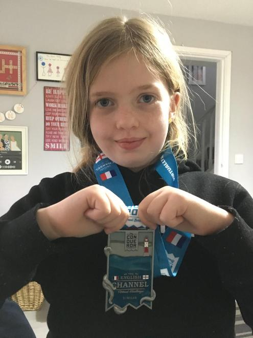 Emily has walked the equivalent of Dover to Calais!
