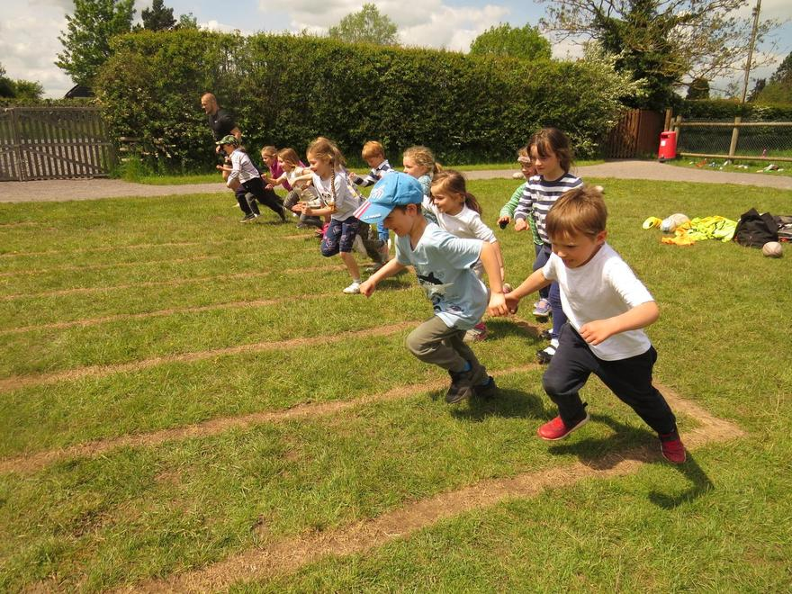 Running in rugby; as fast as we can!