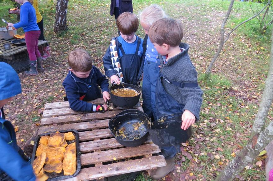 and 'Pumpkin Soup' at Forest School.
