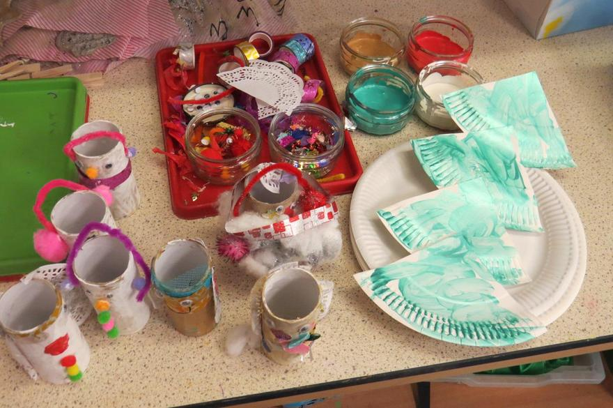 We began our Christmas craft activities..