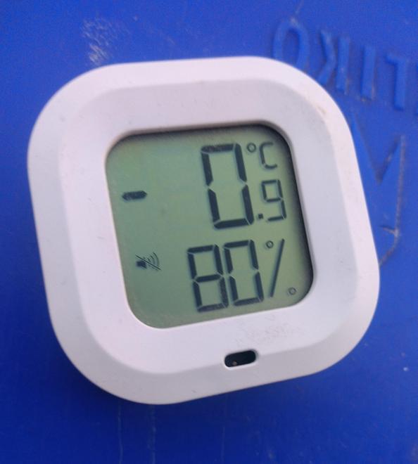 the freezing temperatures!
