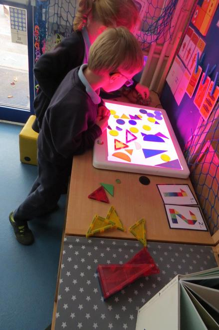 We found shapes that represent 1, 2 and 3
