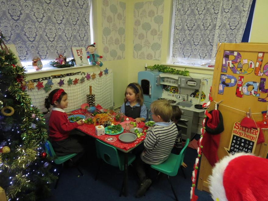 in our role play home corner.