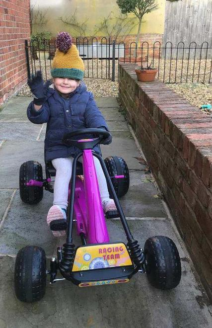 ..wrapped up warm on four wheels!