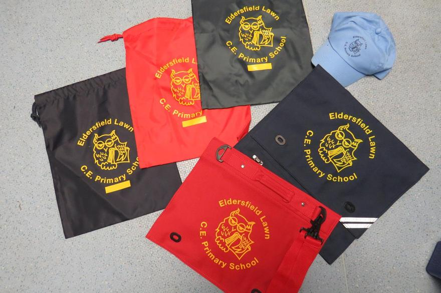Book Bags, PE Kit bag, Cap available