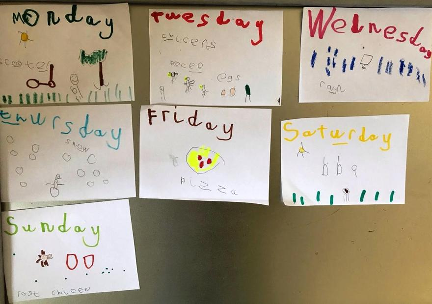 We learned about the days of the week...