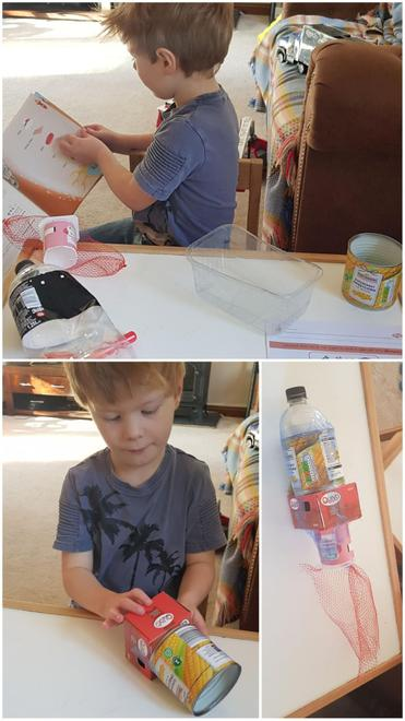 Instructions to construct 3D shape rockets...