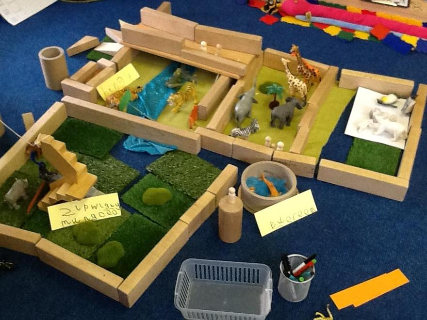 Our zoo designs to keep the wild animals...