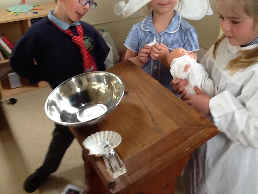 Our role play baptism; holy water