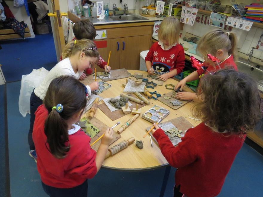 ..as well as developing our skills with clay..