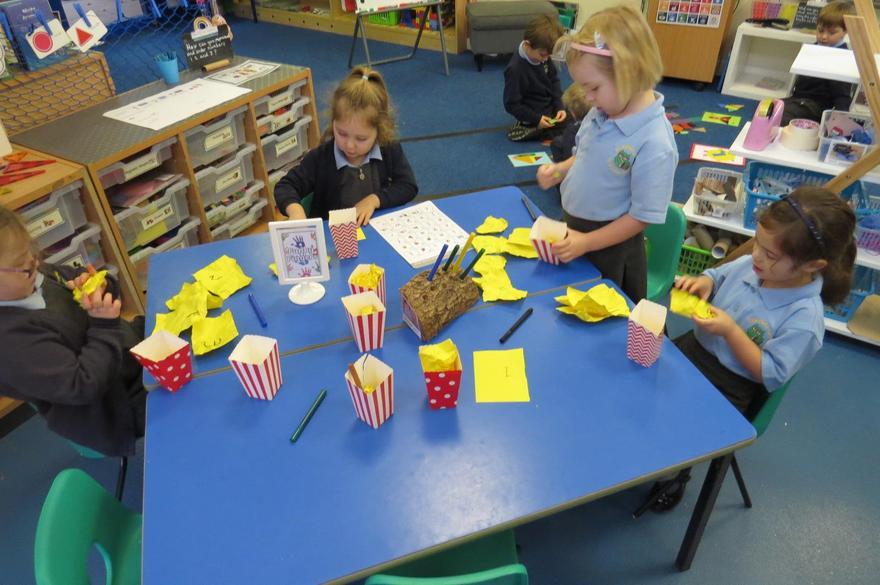 We made 'popcorn sounds'