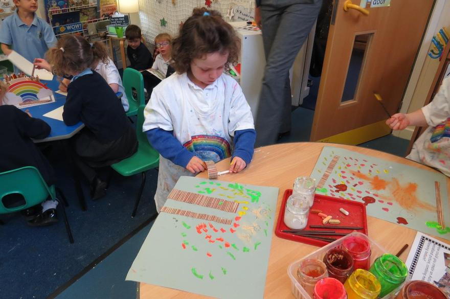 using mixed media to show texture.
