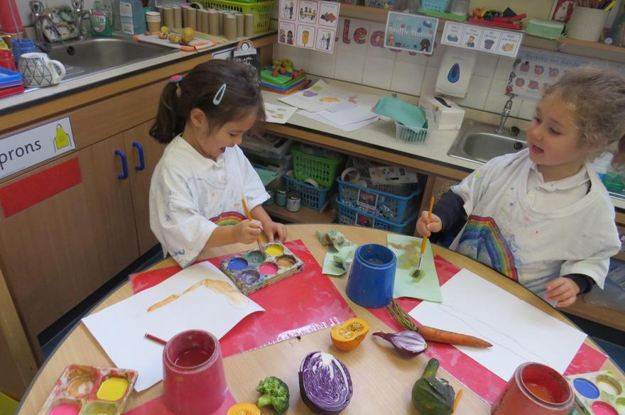 We applied our colour mixing skills