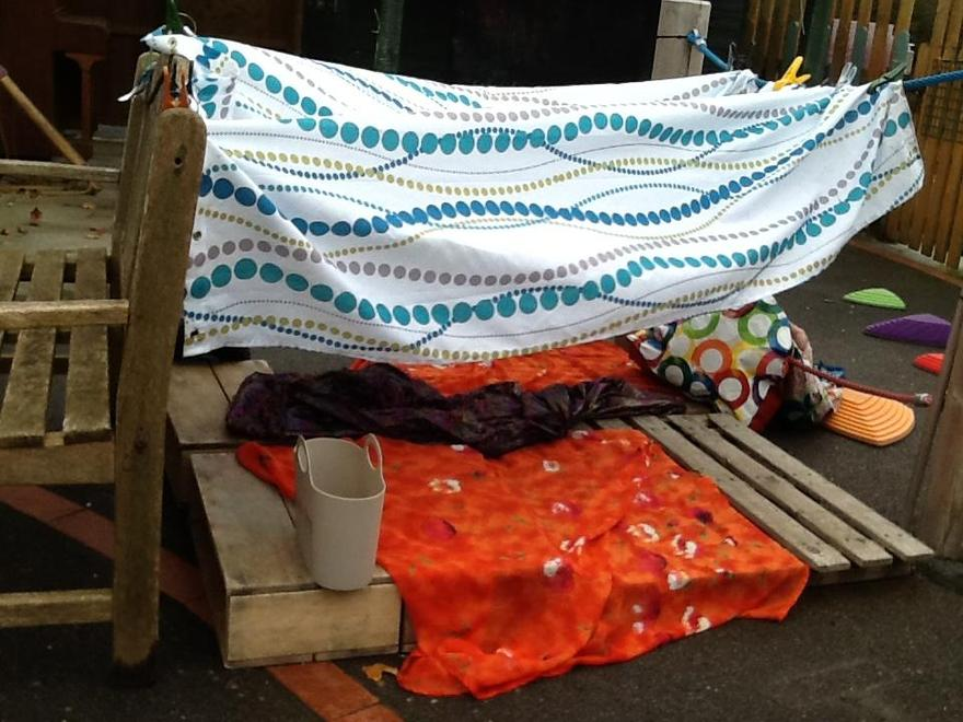 We continued to explore den making..