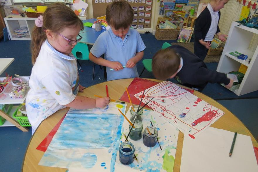 We initiated painting and drawing...