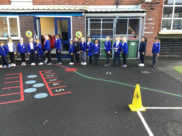 We all took part in Active Mile Week. Some children managed to do more than a mile a day!