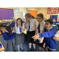 We used freeze framing and thought tapping to show opening scenes 'The Nowhere Emporium'
