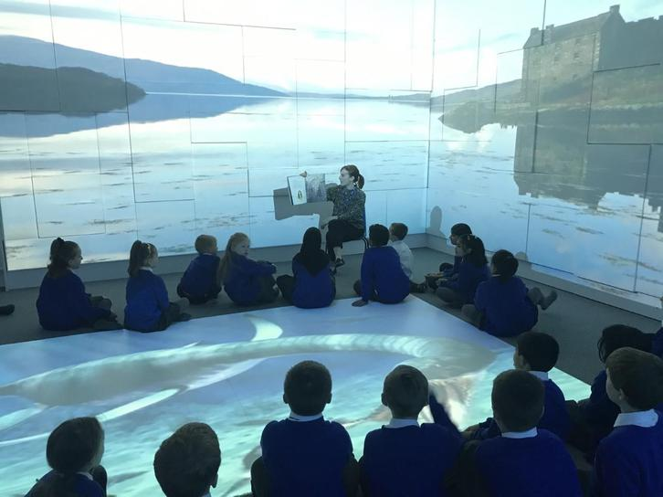 We heard tales about the Loch Ness in the 4D Immersive Room.