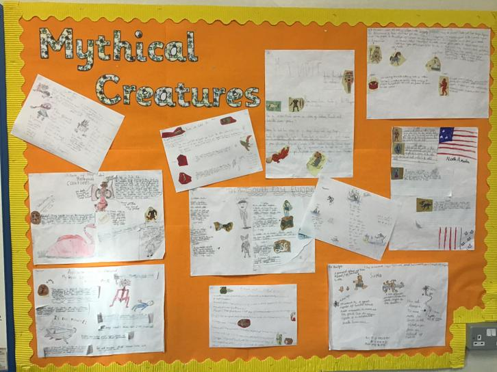 Our brilliant work on Mythical Creatures in English - linked to The Chronicles of Narnia.