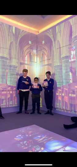 We read lyrics from songs as poetry and performed them aloud including 'Eleanor Rigby'