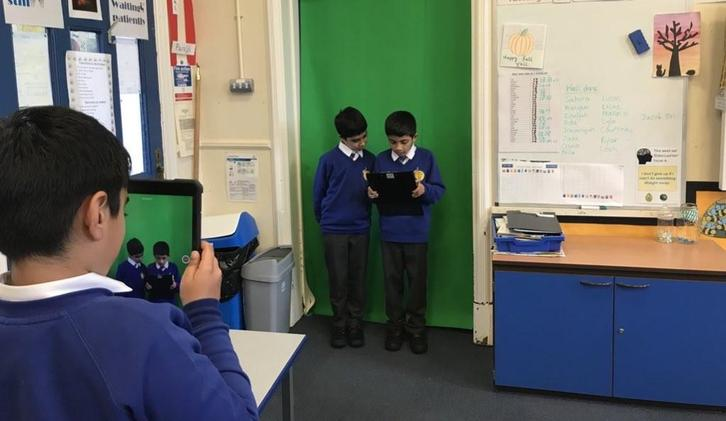 We used green screen technology to report on events at Loch Ness.