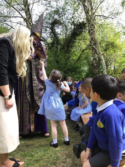 It was really exciting to visit The Burrow and see our special visitor the baby dragon.