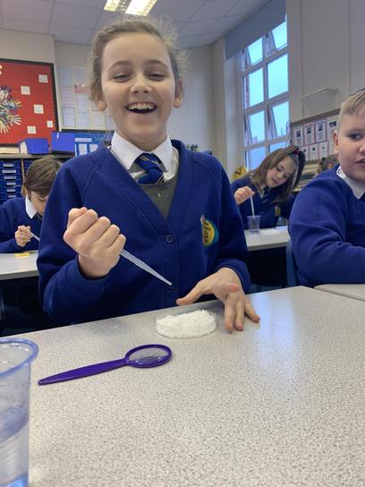We LOVED completing STEAM activities - our favourite was creating pretend snow!