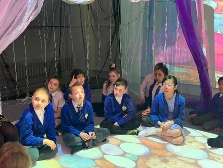 We enjoyed visiting the 4D room to read Tell me a Dragon.