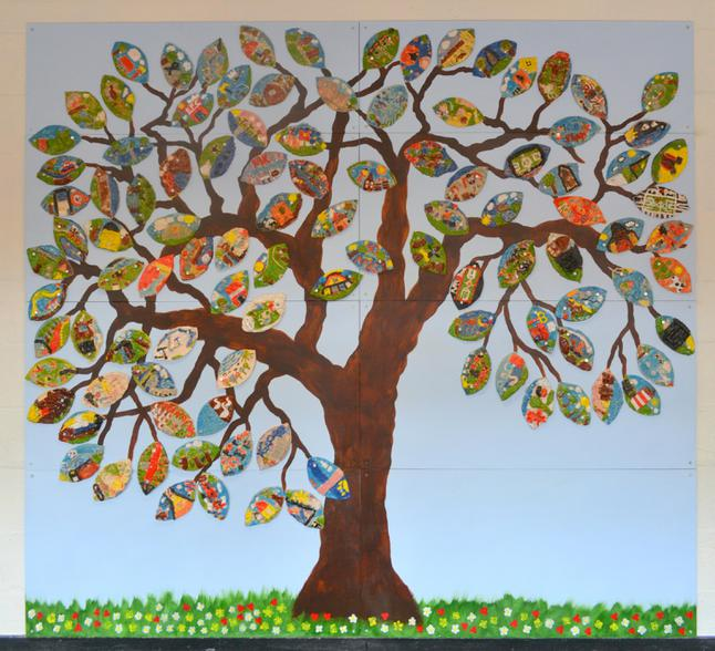 Artwork to mark MK50 created by KS2 children