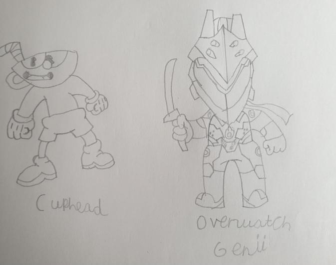 Character drawings in pencil by Harrison from Sequoia