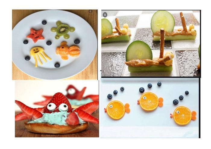 Sea creature snacks