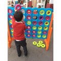 Playing connect 4!