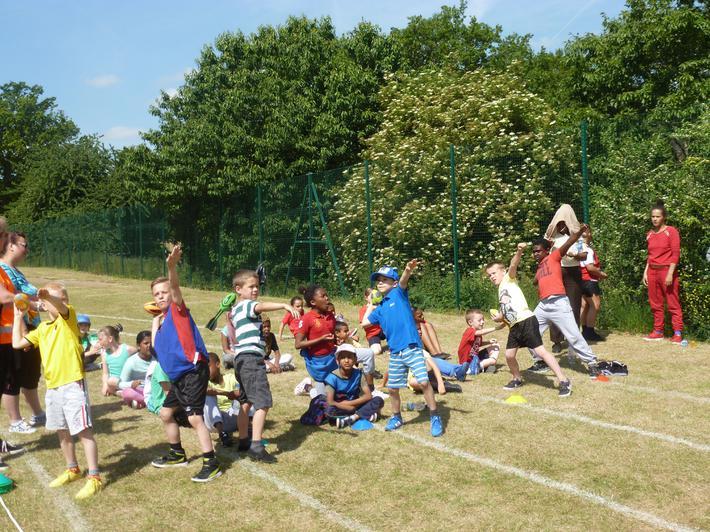 Sports day on Sedgehill's sports field
